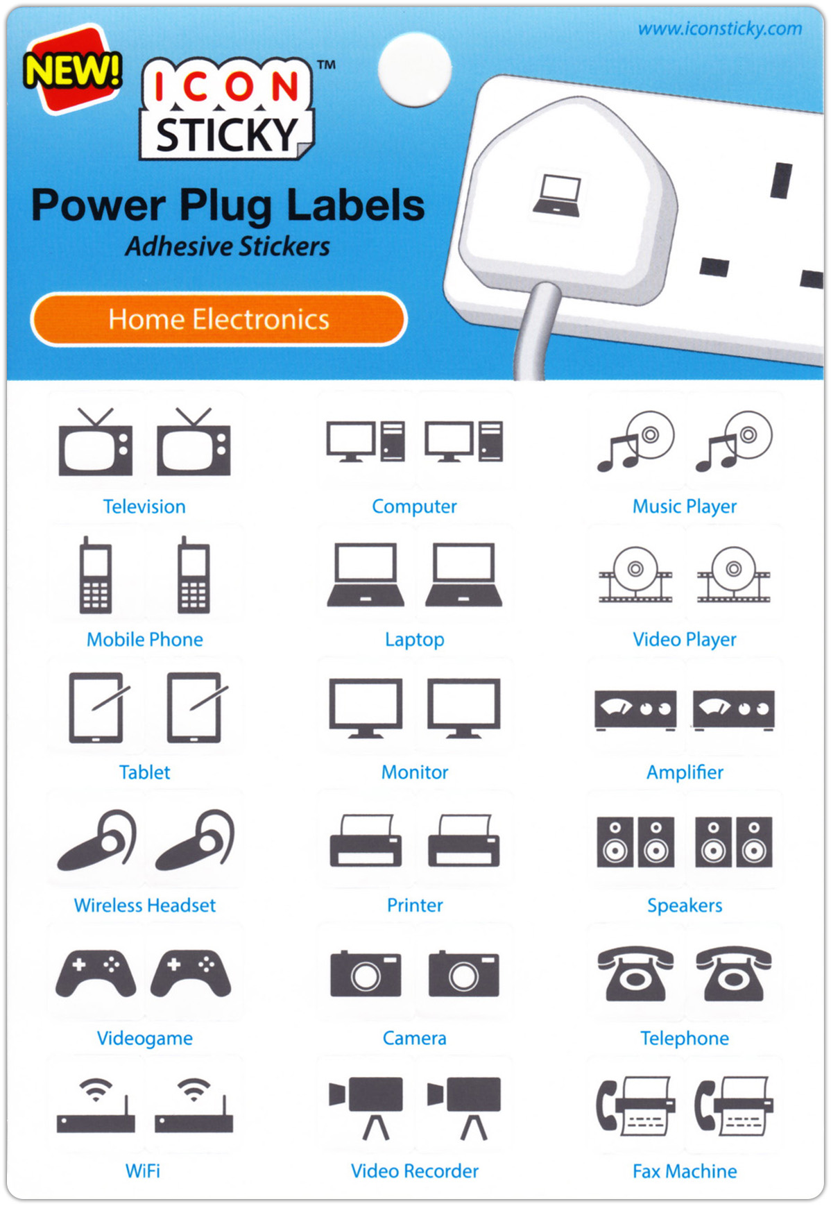 Iconsticky Wall Light Switch Amp Power Plug Labels